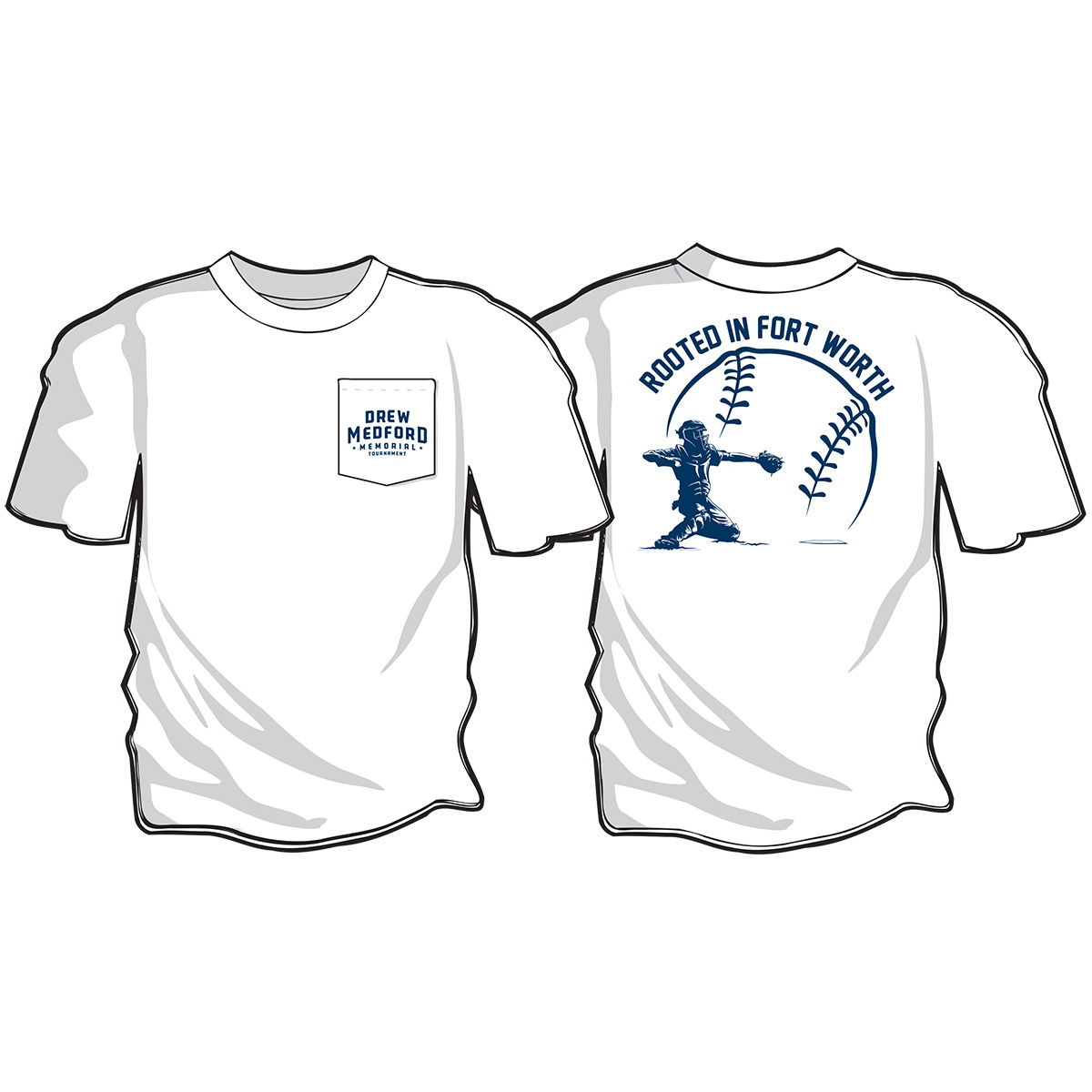 Drew Medford Memorial Tournament White T-shirt