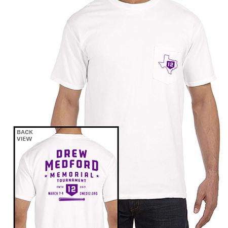 White Drew Medford Memorial Shirt